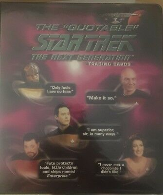 Quotable Star Trek The Next Generation - MASTER SET - Rittenhouse Archives cards