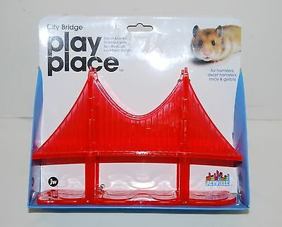New! Petville Play Place City Bridge Small Animal Hide Out for Hamsters, Gerbils