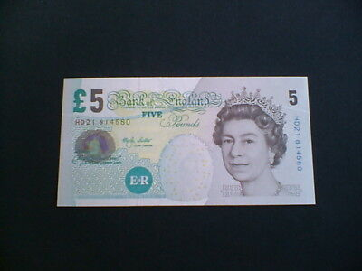 Old £5 Five Pound Banknote In Crisp Mint Condition Hd21 81450 Lowther