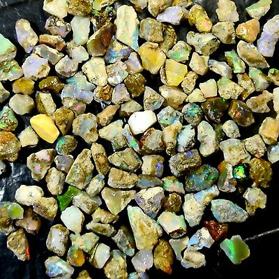 100%Natural Superb Welo Fire Ethiopian Opal Rough Lot Wholesale Gemstone