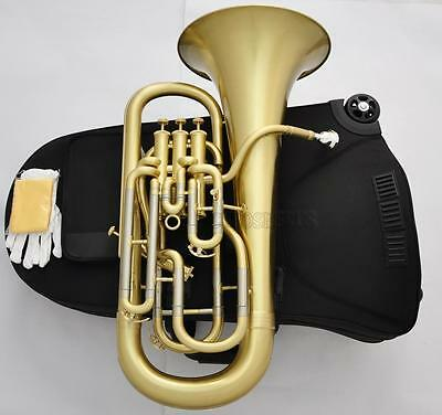 Professional Matt Brass Bb Compensating system Euphonium Horn Monel with case