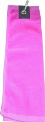 (Pink) - Longridge Three Fold Golf Towel. Shipping Included
