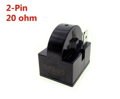 (20ohm 2Pins) - YXQ PTC Relay 20Ohm 2Pin Starter for Refrigerator Black
