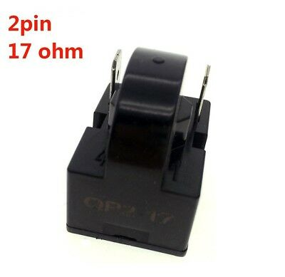 (17ohm 2Pins) - YXQ PTC Relay 17Ohm 2Pin Starter for Refrigerator Black