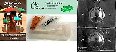 Cybrtrayd Baseball 3D Chocolate Mould with Chocolatier's Bundle, Includes 50