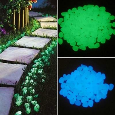 100pcs Garden Decoration Glow In The Dark Luminous Pebbles Stones Wedding Party