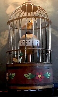 Sweet Little Animated Chinese Mechanical Wind Up Vintage Clock FreeUKP&P