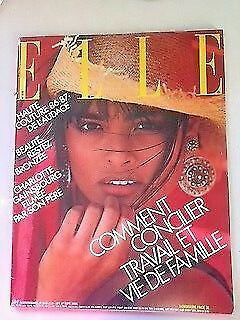 'elle' French Vintage Magazine 1 September 1986