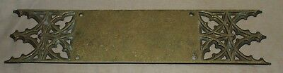 Antique Cast Brass Door Push Plate Harware - Late 1800s? Church Yale & Towne Y&T