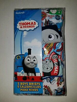 NIP Thomas the Tank Friends Underwear Underpants Briefs Boys 5 PACK SIZE 4