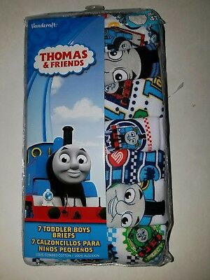Thomas the Tank Engine Train  Or CARS Toddler Boys' 7 Pack Underwear Briefs 4T