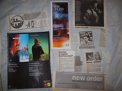 Vintage orginal NEW ORDER clippings cuttings from1980s and 1990s
