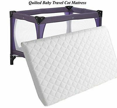 New 2018 Thick Travel Cot Mattress to fit Redkite, Graco. 95 x 65 x 7 cm (FF)