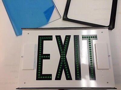 Exit Sign - Green - Heavy Duty - single faced - Exitronix G602E-WB-BL-DL