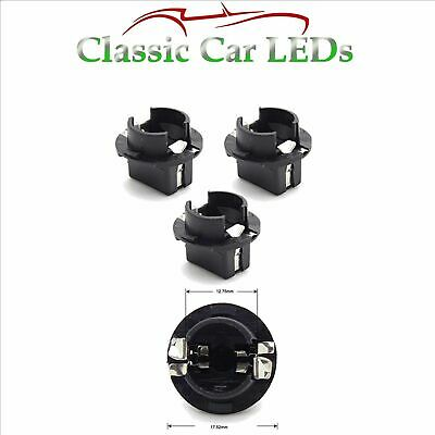 3x T10 BMW Instrument Cluster Interior Lighting Twist Lock Bulb Holders Sockets
