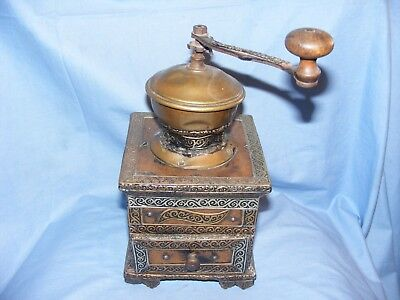 Moroccan Coffee Grinder Metal and Wood Very Unusual African Morocco