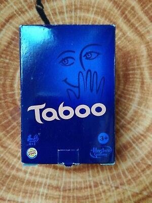 Spielzeug * Burger King * TABOO * Happy Kids Meal * Hasbro * mit Buzzer * Tabu