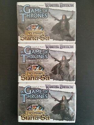 A Game of Thrones ccg 3x Winter Edition Premium Starter Set sealed