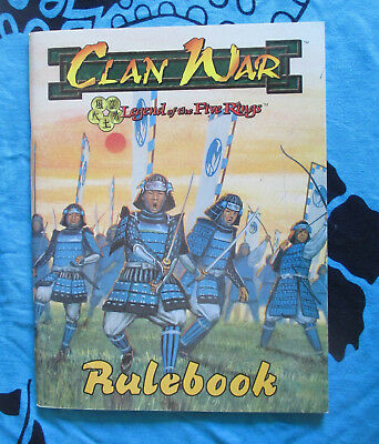 Legend of the Five Rings Clan War Miniatures Rulebook