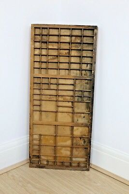 """Vintage Printers Tray Drawer Large Wooden Patina Letters 32"""" x 14"""""""