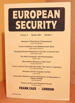European Security Volume 3 Spring 1994 Volume 1 Frank Cass 0714634905 Peter Gill