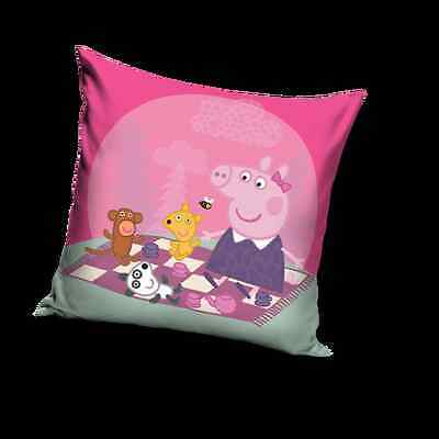 NEW LICENSED PEPPA PIG TEA TIME cushion cover 40x40cm 100% COTTON