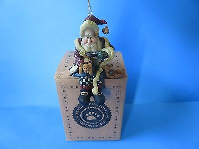 """Boyds Bears Carver's Choice """"Santa…And The Final Inspection"""" Ornament; Free Ship"""