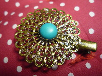Barrette baroque arabesque fabrication française - French design hair clip NEW!