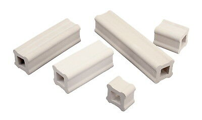 AMACO Durable Strong Shelf Support, 1 X 1 X 4 in, White, Pack of 12
