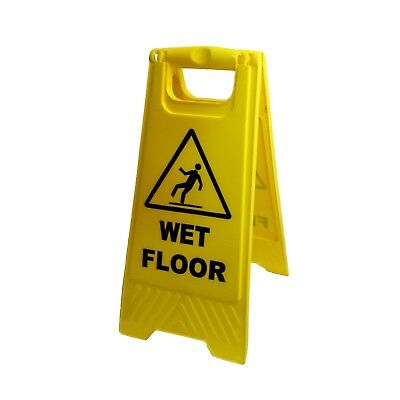 """24"""" Caution Sign Wet Floor 2-Sided, Yellow"""