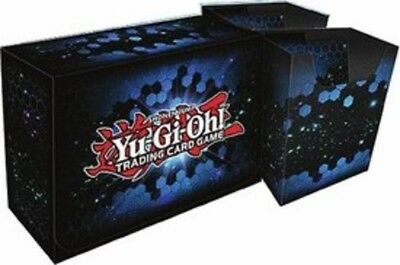 Konami Yugioh Game Storage Blue Dual Double Deck Box Structure Deck Collector
