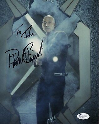 PATRICK STEWART AUTHENTIC SIGNED 8x10 COLOR PHOTO    AWESOME      TO JOHN    JSA