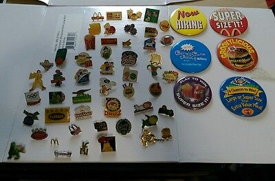 McDonald's Employee Flair Pins. Late 1990's - Early 2000's Fast Food Memorabilia