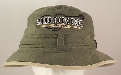 Hard Rock Cafe Pattaya Boonie Style Hat Green Khaki