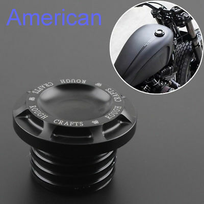 Rough Craft Aluminum Fuel Tank Gas Cap For Harley Sportster Dyna Softail Touring