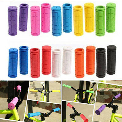 Pair of Bike Bicycle Micro Scooter Fixed Gear Rubber Handle Bar Ends Hand Grip