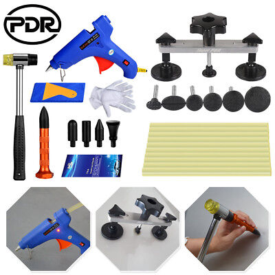 30× PDR Tool Kits Paintless Dent Repair Puller Tap Down Hammer Glue Gun Removal