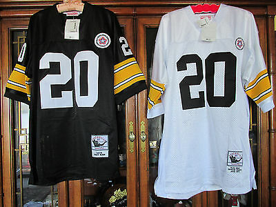Rare Bleier 20 Throwback 1975 Steelers NFL Jersey His & Hers Set: Sizes 54 & 48