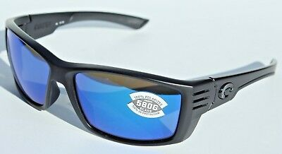 7118e7b61f COSTA DEL MAR Cortez 580G POLARIZED Sunglasses Blackout Blue Mirror NEW  249