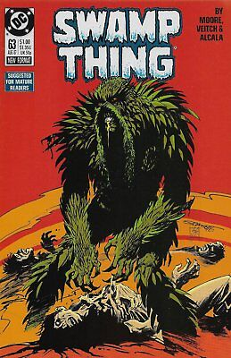 Swamp Thing #63 (Aug 1987, DC) Alan Moore story, Bill Sienkiewicz cover VF (8.0)
