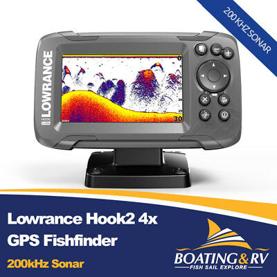 Lowrance Hook2 4x GPS Fishfinder + Transducer + Free Shipping | High Chirp