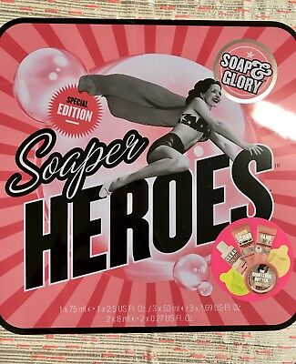 New Soap And Glory Soaper Heroes Special Edition Christmas Gift Set in Tin Box