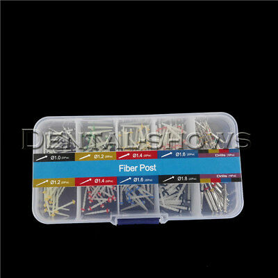 160 Pcs Glass Dental Fiber Post Single Refilled Package & 32 Pcs Drills