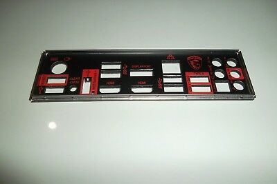 MSI  GAMING I/O  Shield Back Plate Panel for E21-7968010 - C22 Motherboard
