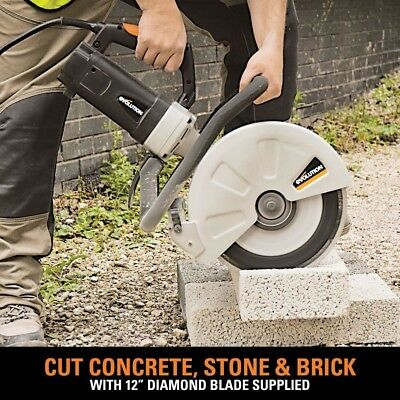 Corded Portable Concrete Saw Blade Electric 15 Amp Powered 12 Inch Disc Cutter