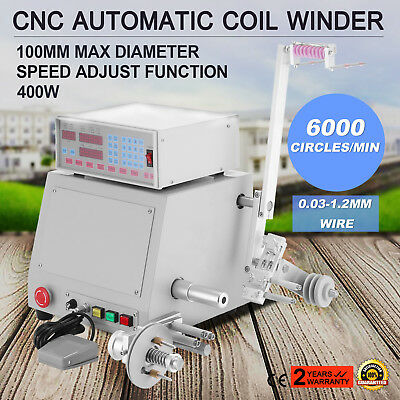 Computer Cnc Automatic Coil Winder Large Torque Winding Machine 0.03-1.2Mm Wire