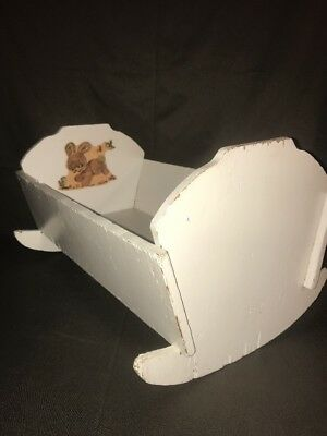 VINTAGE PRIMITIVE BABY ROCKING CRADLE  20x14x11.25