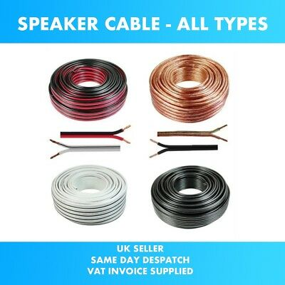 10m Red Black White Transparent 0.5mm Loud Speaker Cable Car Audio & Home HiFi
