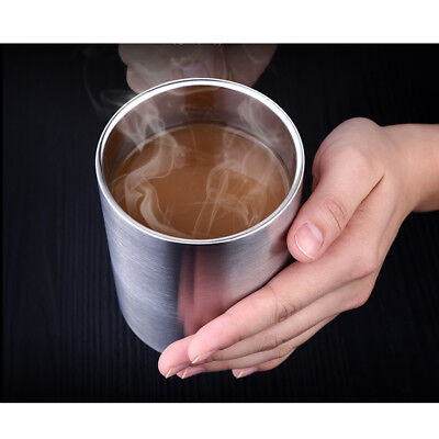 Stainless Steel Water Coffee Tea Cup Mug Drop Resistance Break Resistance