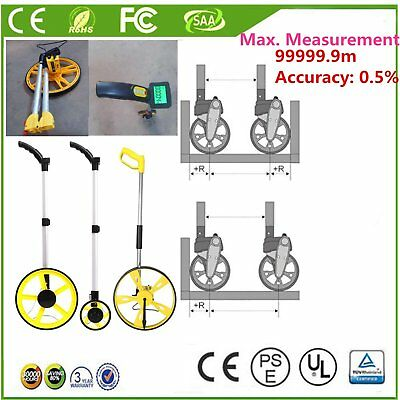 Distance Measuring Wheel 99999.9m Electronic Rolling Tape LCD SAE Metric LvE
